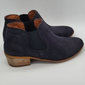 BP 'tripp' black suede leather ankle boots